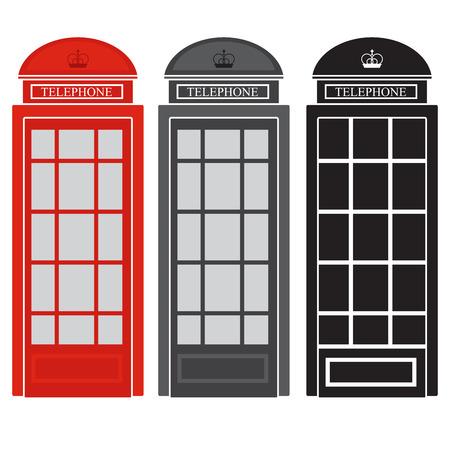 openbare telefooncel. vector illustratie van een Britse straat telefoon.