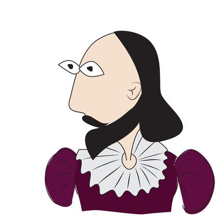 william: illustration of William Shakespeare british writer