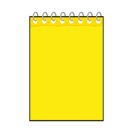 yellow notepad: illustration of a yellow notepad icon