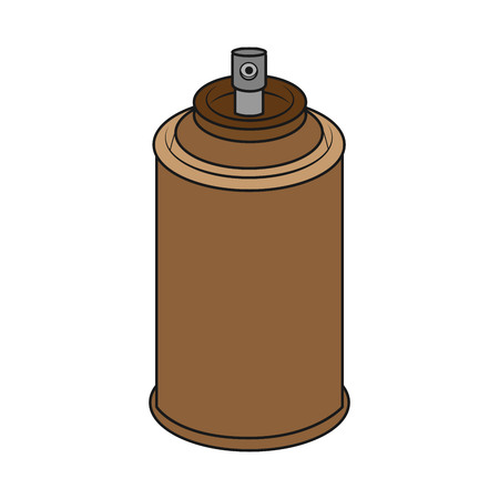 brown spray can on white background. vector format illustration  イラスト・ベクター素材