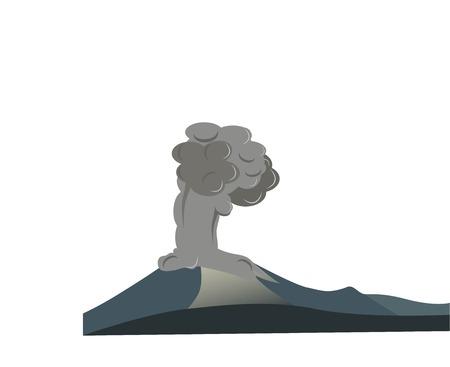 Erupting volcano, inspired on Krakatau of Java