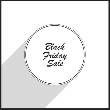 Black friday sale badge. Illustration