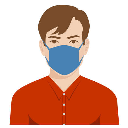 avatar of a man wearing a medical mask against covid-19