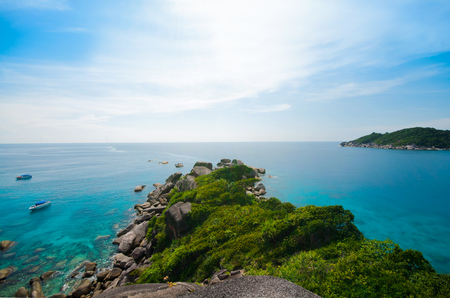 View Point from the Rock  Sail  of Similan island in Phang-Nga, THAILAND