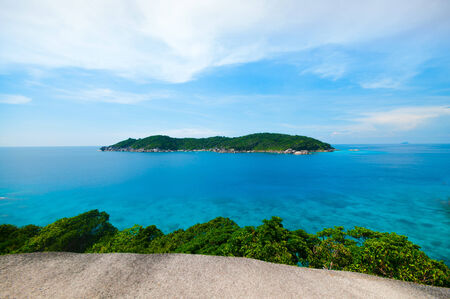 View Point from the Rock  Sail  of Similan island in Phang-Nha, THAILAND