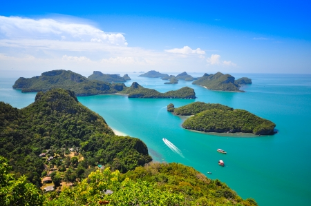 phangnga: Top view of Ang Thong National Marine Park in Phang-Nga, Thailand Stock Photo