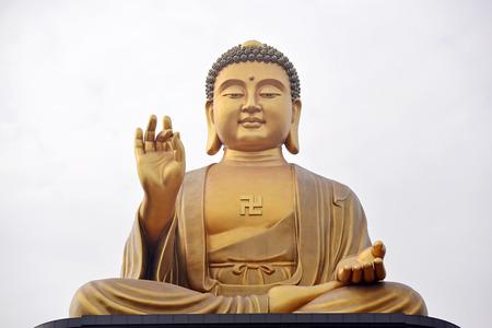 Closeup of Giant Buddha in Taiwan.