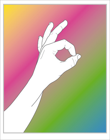 handsignal: hand saying ok!