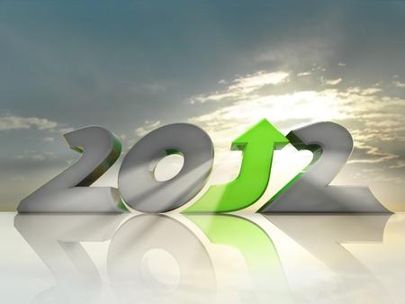 arise: Positive 2012 Stock Photo