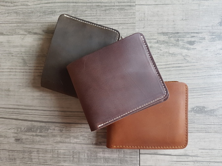 man leather wallet three color