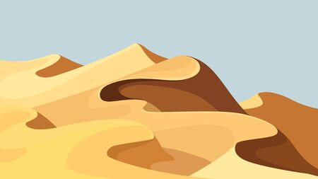 Beautiful sand dunes.  イラスト・ベクター素材