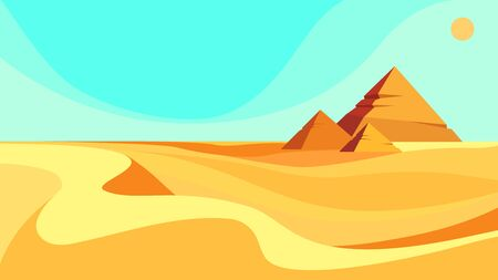 Pyramids in the desert.