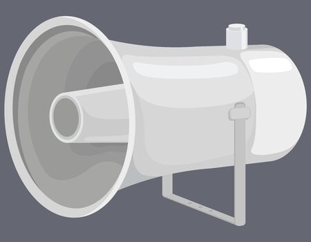Loudspeaker in cartoon style. External megaphone.