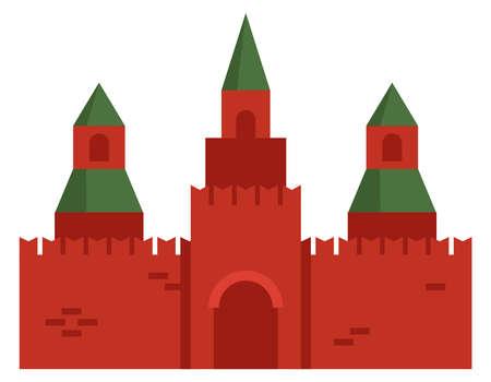 Castle in flat style.