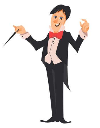 Conductor of orchestra. Vettoriali