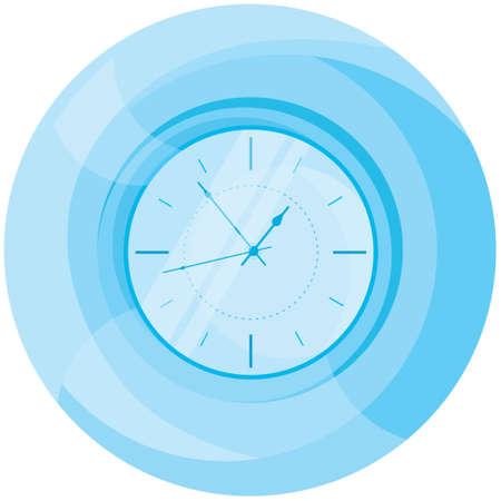 Blue wall clock.