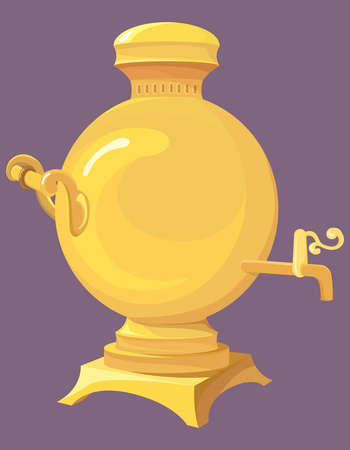 Russian gold samovar.