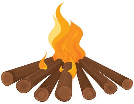 Bonfire in cartoon style.