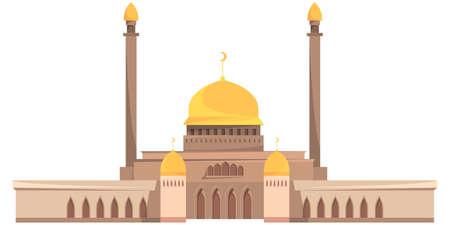 Mosque with five towers. Ilustração