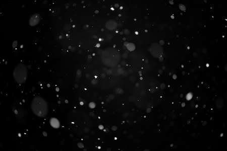 Real snow on black background, It is snowing, blend layer for screen, add