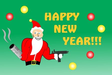 Killer Santa Happy New Year