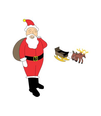 Santa Claus illustration perfect for use in children targeted design or writing projects.