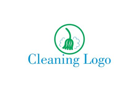 green cleaning: A logo that can be used for a company that offers cleaning and hygiene services.