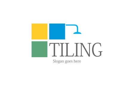 tiling: Tiling bathroom ceramics logo