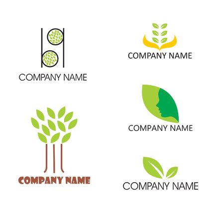treelike: Five leaf themed logos
