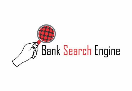 Bank search engine logo Иллюстрация