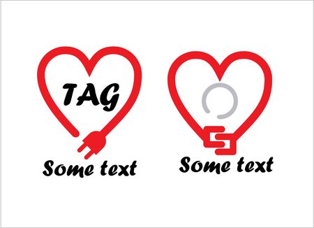 Two heart cable logos