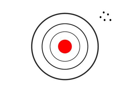 Target miss concept vector illustration. Illustration