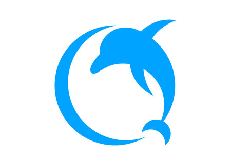 Dolphin logo concept 向量圖像