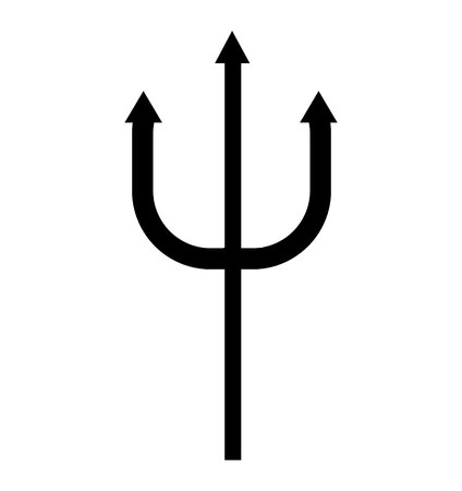 Poseidon's trident rod illustration. Vettoriali