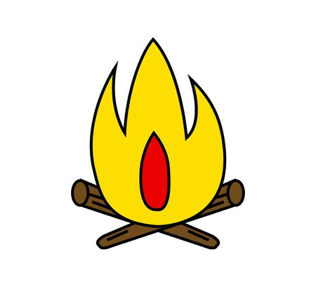 Simple cartoon bonfire vector illustration design.