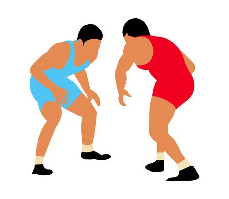 Two male greco roman wrestlers