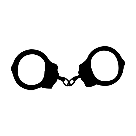Simple handcuffs black silhouette