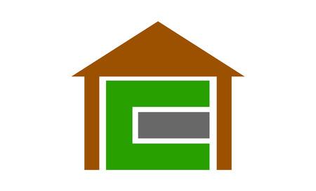 C letter house logo