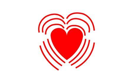 Icono simple y plano de un corazón que late.