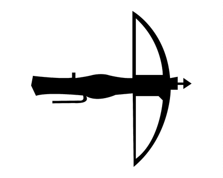 Simple flat icon of a crossbow