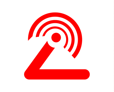 Simple, flat, abstract, minimal wifi signal logo