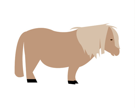 Shetland miniature pony horse silhouette Illustration
