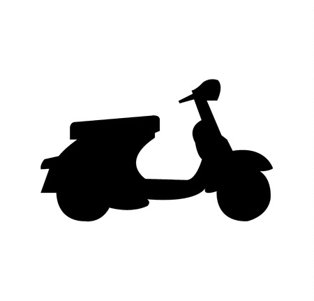 Vespa scooter simple silhouette