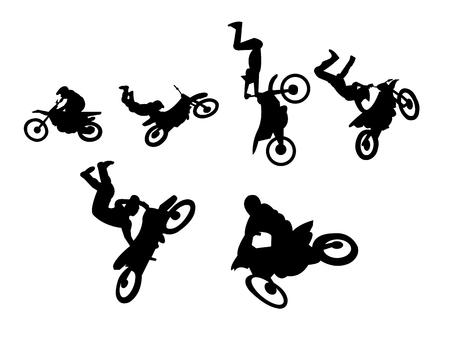 Motorbike extreme sport stunts Illustration