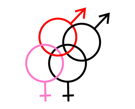 Gender symbols denoting bisexuality