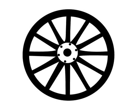 Stage coach wheel symbol