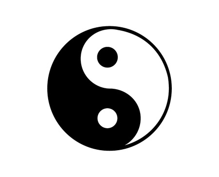 Black and white Ying Yang symbol 矢量图像