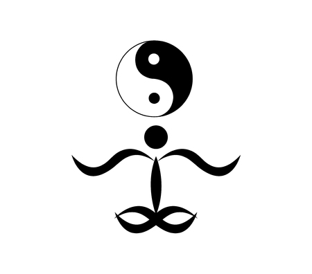 Meditation and zen person and symbol