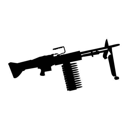 Automatic machine gun silhouette