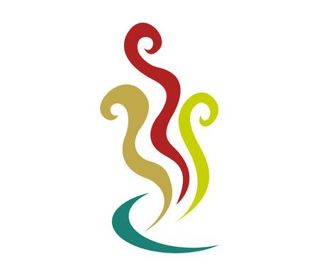 Abstract vapor shapes logo